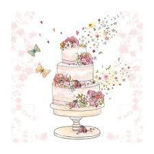 Wedding cake napkins