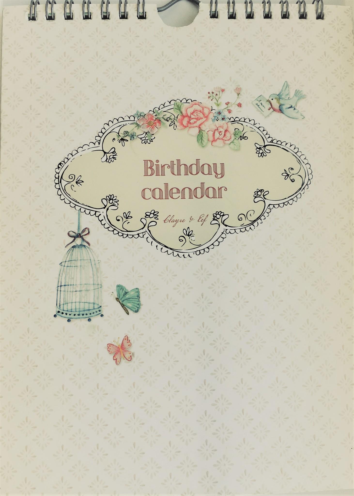 Clayre & Eef Calendario di compleanno