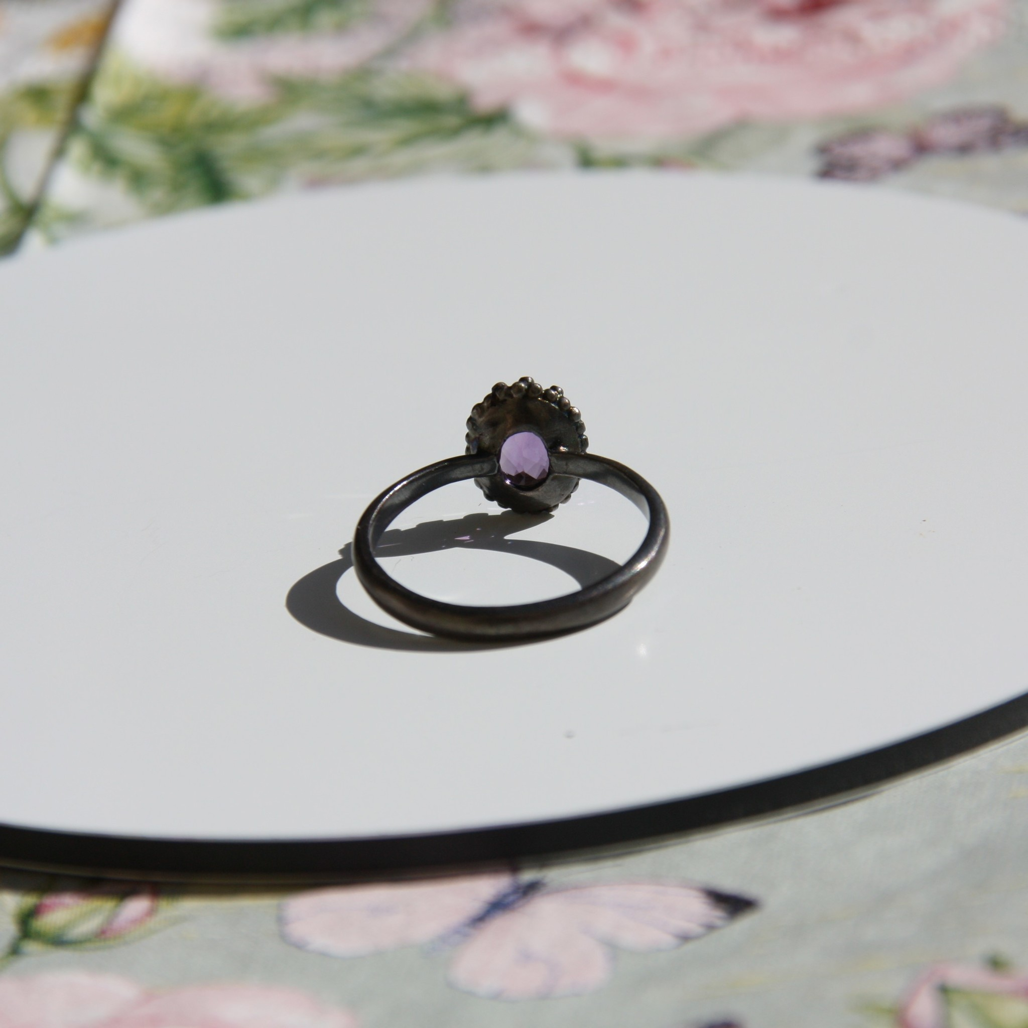 Carré Jewellery Amethyst silver ring