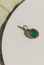 Carré Jewellery Zilveren hanger met groene Agaat