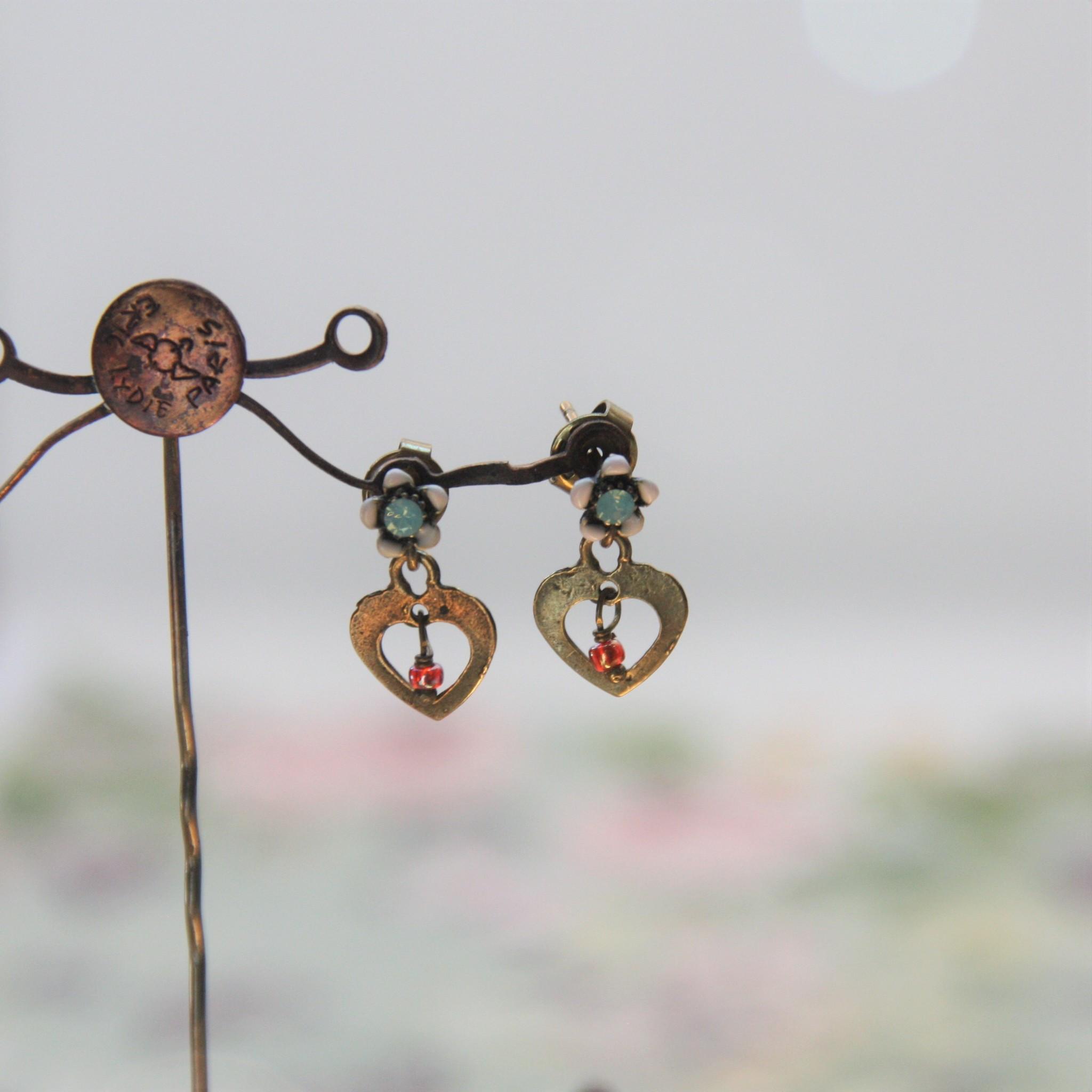 Vincent Filac Heart earrings