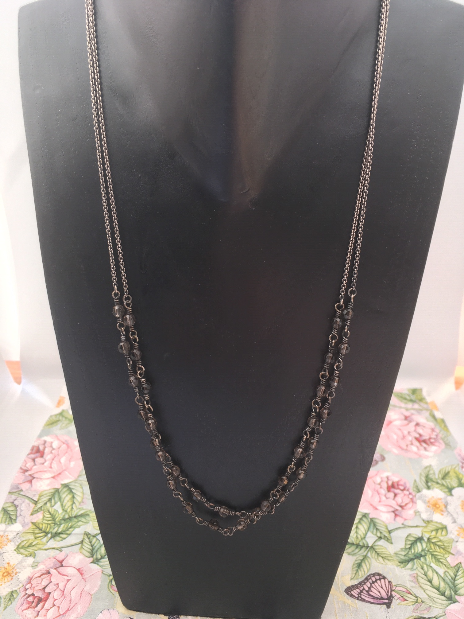 Carré Jewellery Long silver Carré necklace