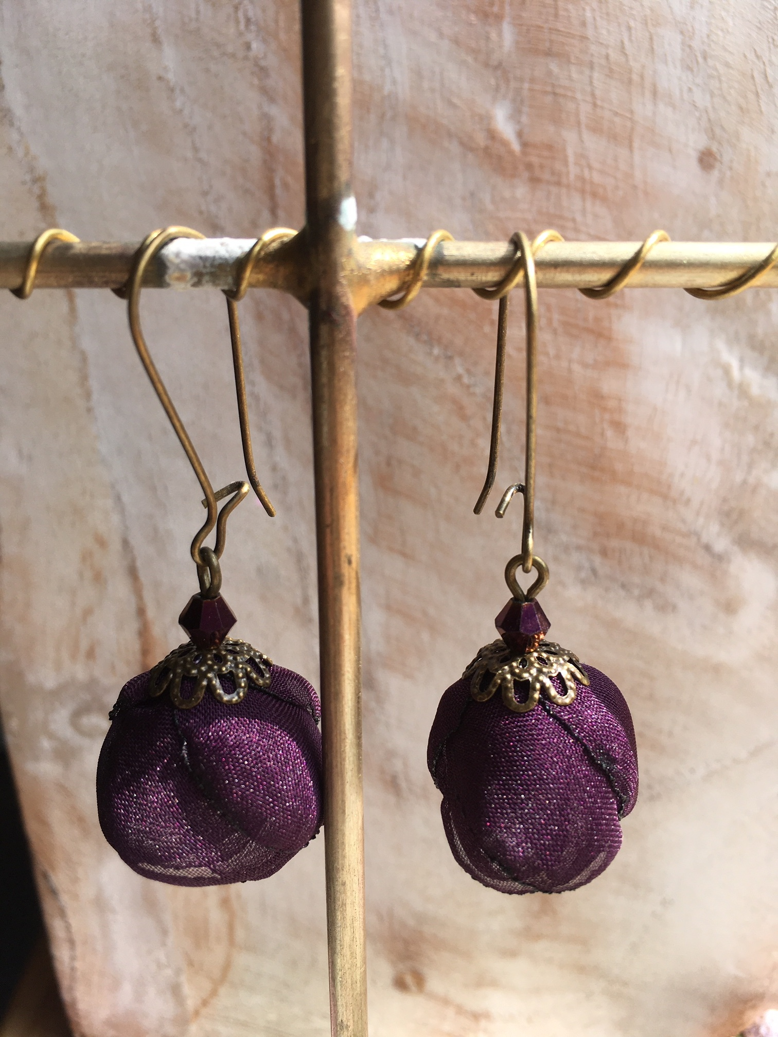 Ana Popova Purple Frida earrings