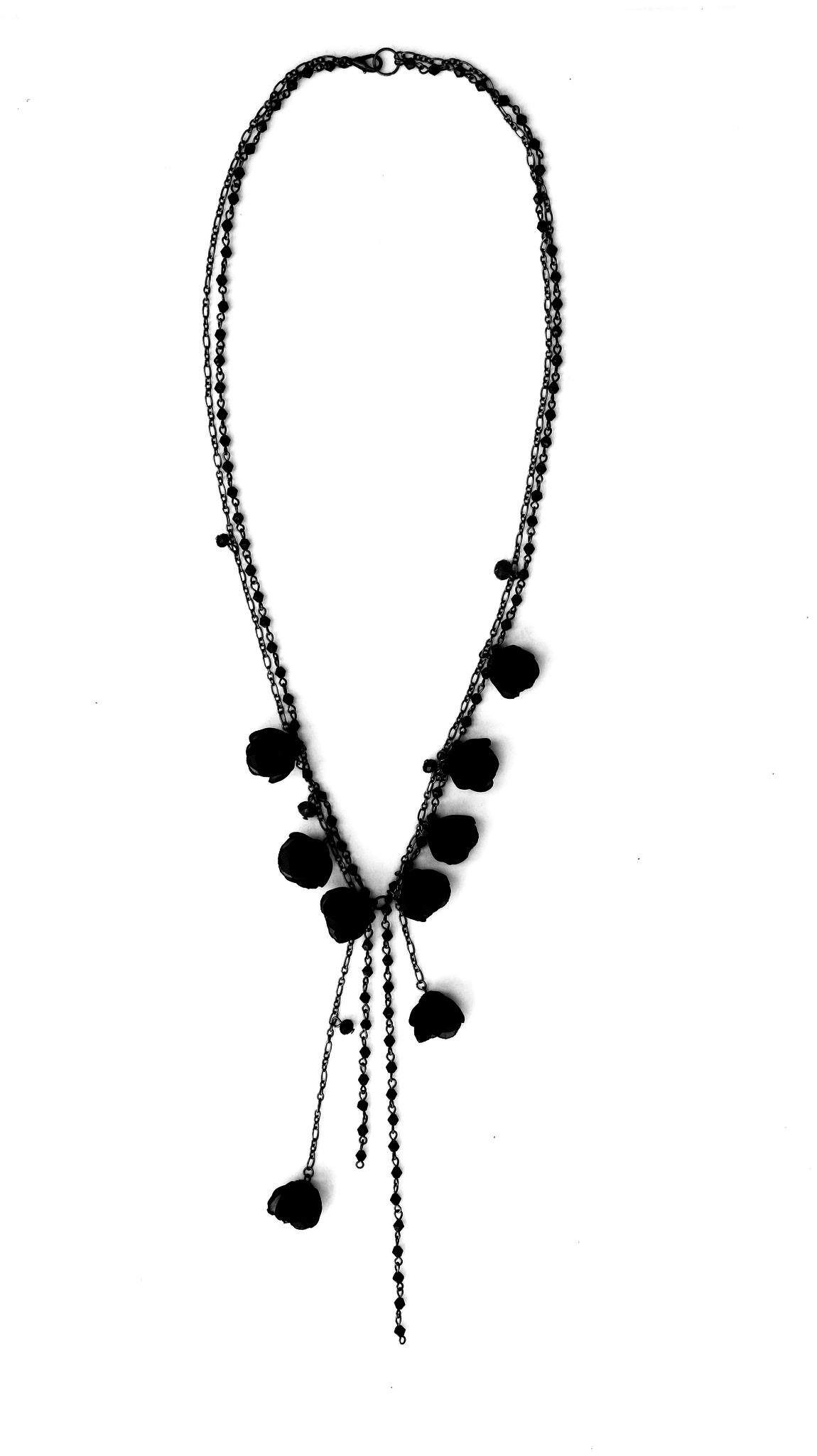 Ana Popova Zwarte  ketting Gabrielle