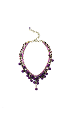 Ana Popova Purple necklace Odette
