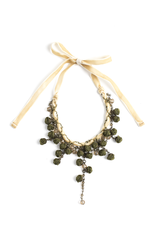 Ana Popova Darkgreen Ella necklace