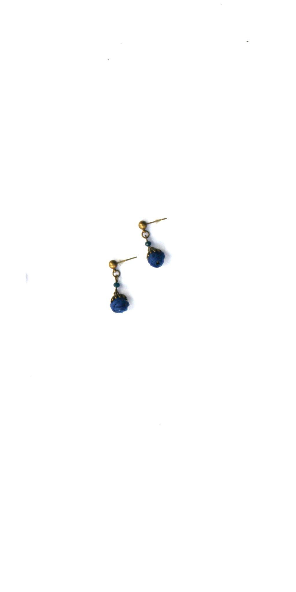 Ana Popova Blauwe oorbellen Christelle