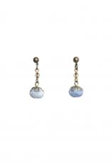Ana Popova Lichtblauwe oorbellen April