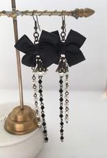 Ana Popova Black Antionette  earrings