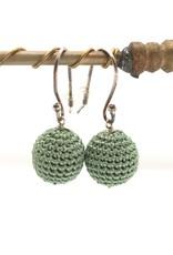 La Petite Rooze Silver crochet earrings