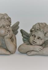 Clayre & Eef Set grijze engeltjes