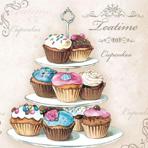 Ambiente Servetten met cupcakes