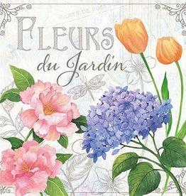 Ambiente Servetten 'fleurs de jardin'