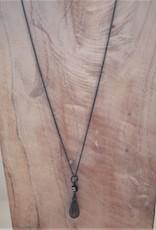 Carré Jewellery Grey moonstone pendant on necklace