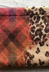 The blue Turban Warme sjaal met dierenprint