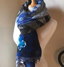 The blue Turban Wollen sjaal