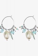 Hultquist Silver Ocean earrings