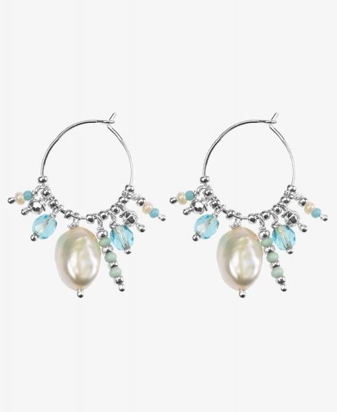 Hultquist Zilveren Ocean oorbellen