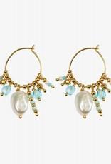 Hultquist Silver Ocean earrings , goldplated
