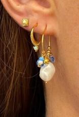 Hultquist Zilveren Ocean oorbellen , verguld