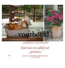 Made by Amberhoeve Bon ontbijt voor 2 personen