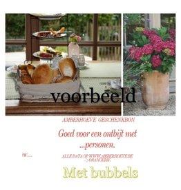 Bon ontbijt met bubbels  voor 2 personen