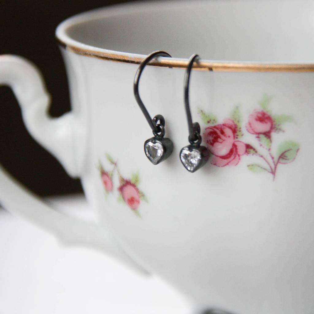 Carré Jewellery Hearts in oxidated silver