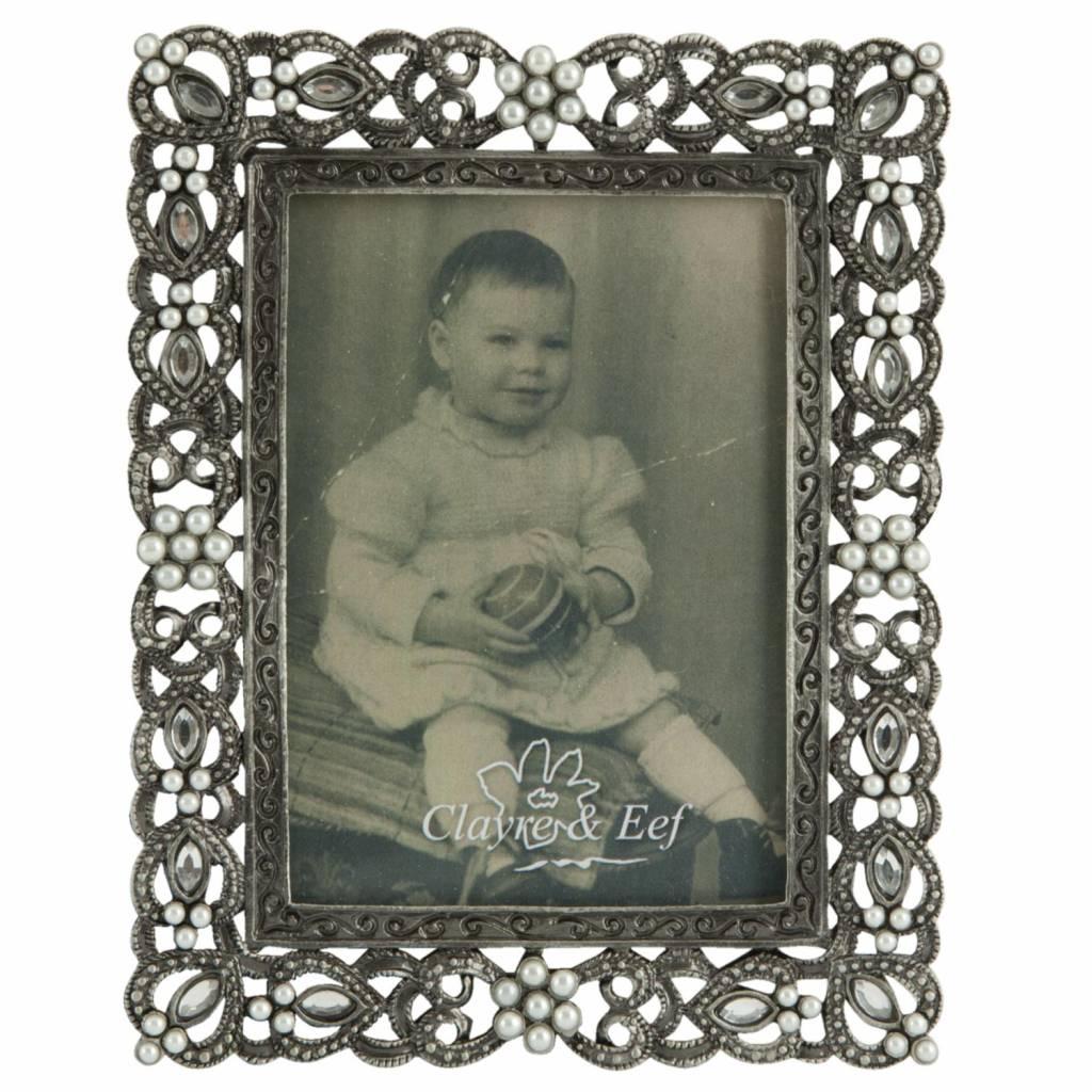 Clayre & Eef Fotolijstje met pareltjes