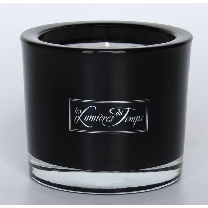 Kaars in luxe glas met eigen logo