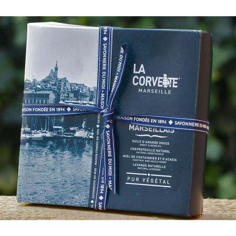 Cadeaudoos met vier zepen Savon de Marseille