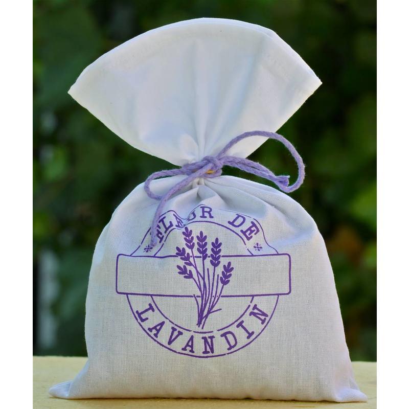 Grote lavendelzak met eigen bedrukking