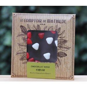 Chocoladetablet hartjes en kerst