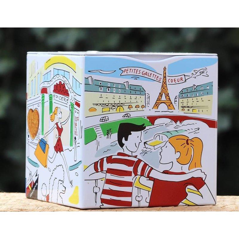 Blikje Parijs met  roomboterkoekjes