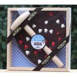 Plak chocolade met hamer hart