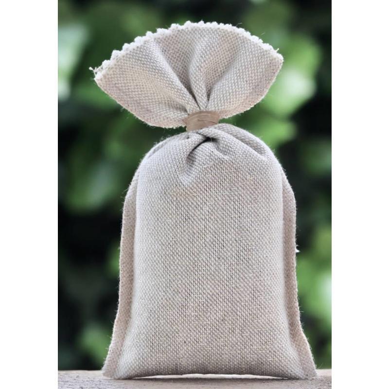 Lavendelzakje van naturel stof met gouddraad - Copy