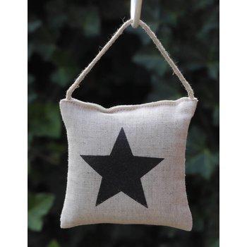 Lumière de Provence Kussentje ster zwart