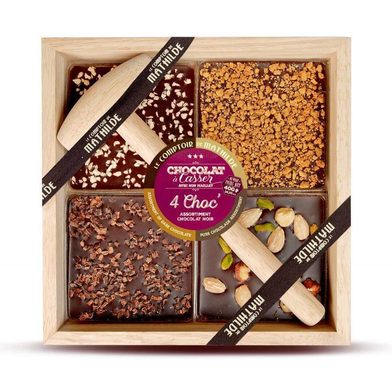Alle kistjes chocolade met hamer kwartet