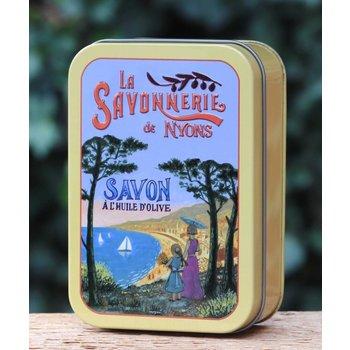 Savonnerie de Nyons Groot blik zeep Azur