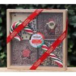 Kistjes chocolade met hamer in kerstsfeer
