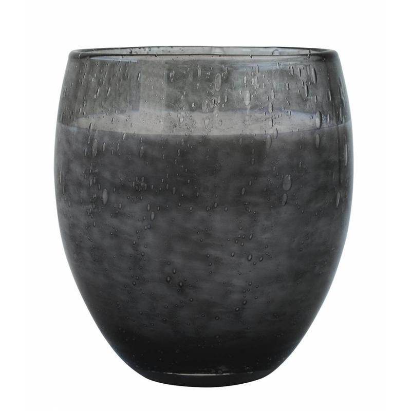 Middelgrote geurkaars Perle in grijs glas