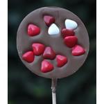 Chocoladelollie met hartjes