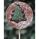 Chocoladelollies met kerstdeocatie