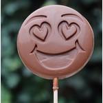 Chocoladelollie met emoticons