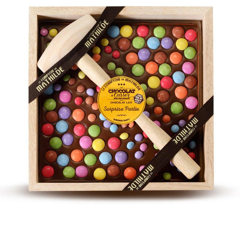 Kistje chocolade met hamer gepersonaliseerd