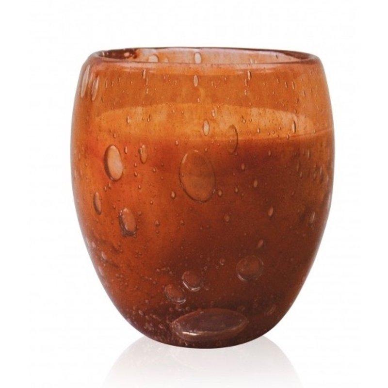 Middelgrote geurkaars Perle in terracotta  glas