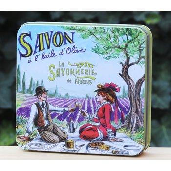 Savonnerie de Nyons Blik 4 zepen picknick
