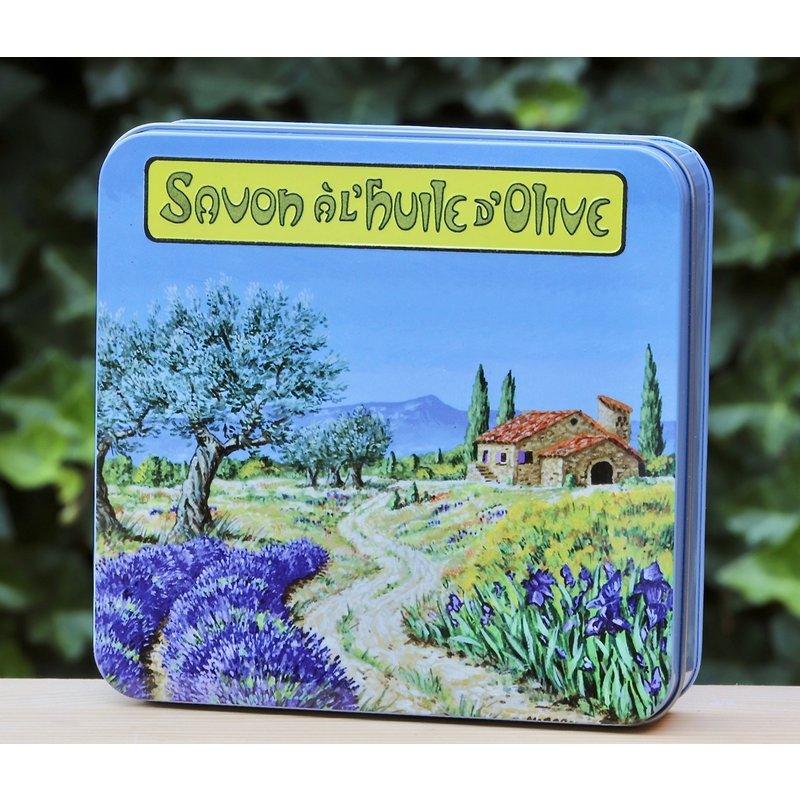 Blik met 4 verschillende zepen Provence