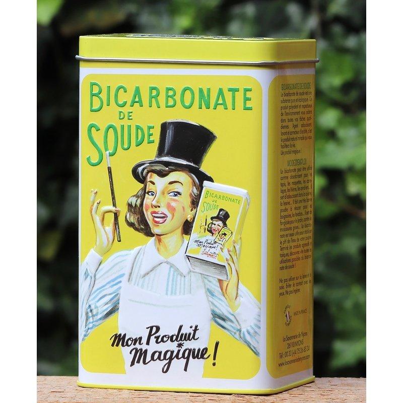 Blik met zuiveringszout (bicarbonaat)
