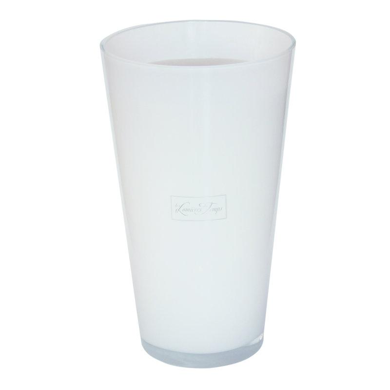 Kaars in dik wit glas maat XXL