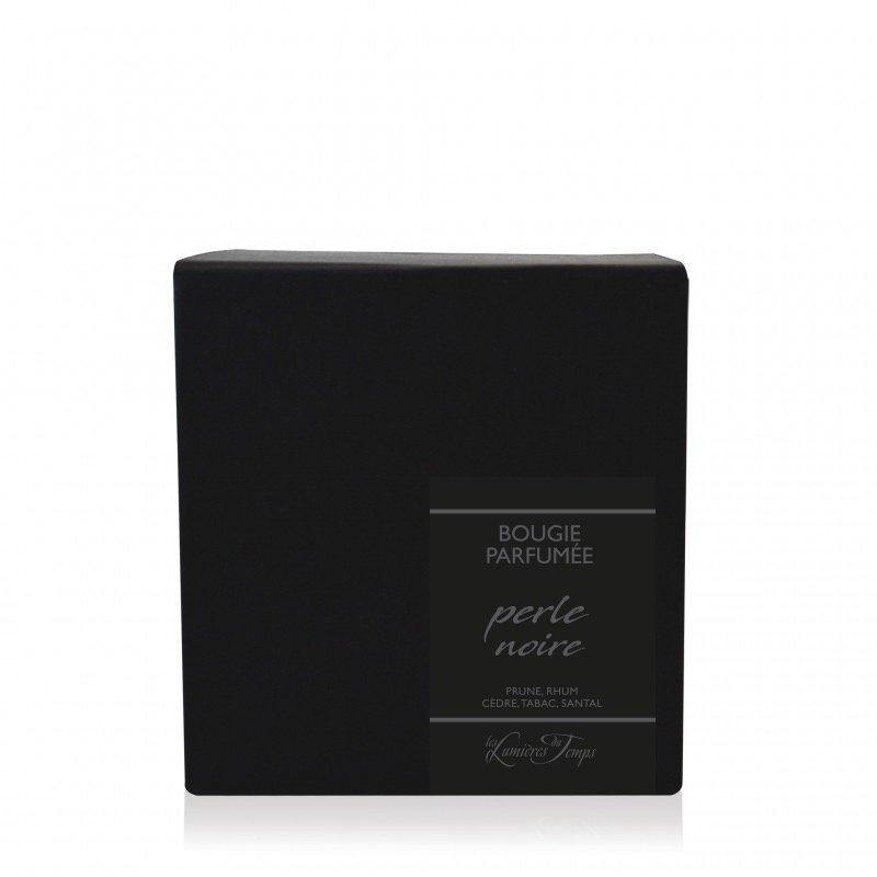 Middelgrote geurkaars Perle in zwart  glas